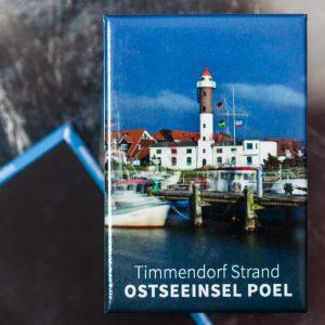P001-M: Magnet Insel Poel: Hafen und Leuchtturm Timmendorf Strand