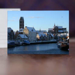 Alter Hafen: Blick auf den Marienkirchturm und St. Georgen