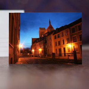 Mühlengrube und St. Nikolai am Abend