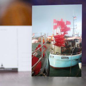 Fischerboot im Hafen von Timmendorf Strand auf der Insel Poel