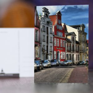 Bohrstraße mit Hotel Alter Speicher