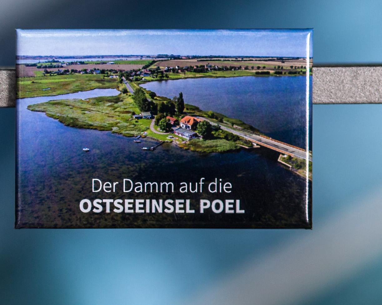 Magnet Insel Poel P005-M Damm auf die Insel