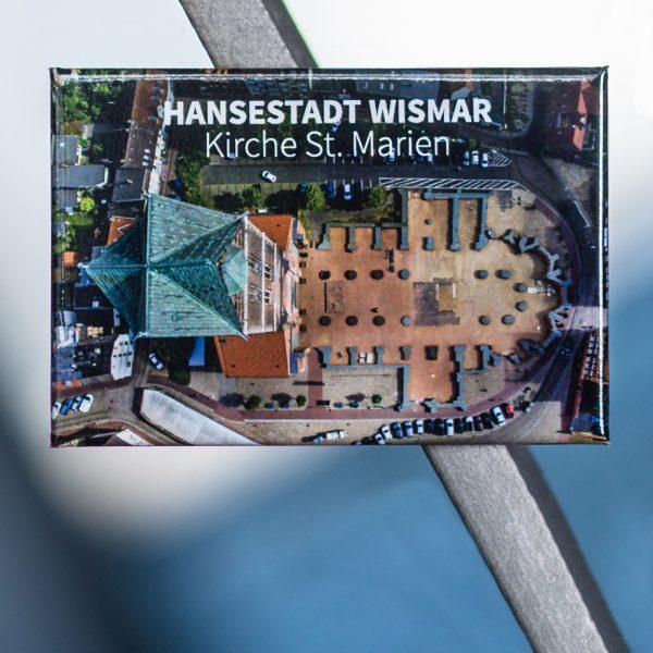 Magnet Hansestadt Wismar W053: Kirche St. Marien: Turm und Grundmauern des Schiffs.